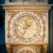 Stock Photo: Old golden clock in Lyon, France.