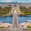 View of Paris from the Eiffel tower. - Stockfoto