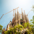 Sagrada Familia in Barcelona, Spain, Europe. - Stock Photo