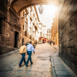 Men walking on street of Toledo, Spain, Europe. — Stock Photo