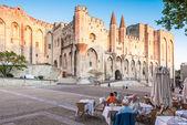 Palácio do papa de avignon, frança. — Foto Stock