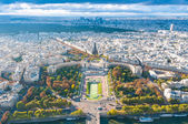 View of Paris from the Eiffel tower. — Stock Photo