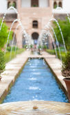 Fountains in garden of Alhambra in Spain, Europe. — Stock Photo
