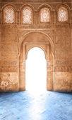 在西班牙,欧洲的格拉纳达宫的蔓藤花纹门. — 图库照片
