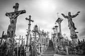 Sky and hill of crosses near Siauliai, Lithuania. — Foto Stock