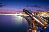 Sunset view of Nice city coast. — Stock Photo