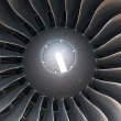 Modern plane engine turbine blades. — Stock Photo