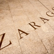 Name Zaragoza written on tiles in Spain, Europe. — Stock Photo #14753761