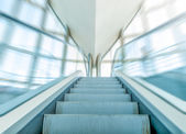 View of escalator in business centre in motion. — Stock Photo