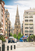 View of street in San Sebastian in Spain. Europe. — Stock Photo