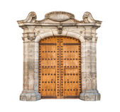 Massive doorway isolated on white background. — Stock fotografie