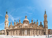 Basilica of Our Lady of Pillar in Spain, Europe. — Foto de Stock