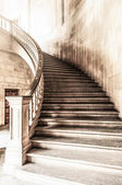 Vintage view of marble spiral staircase. — Stock Photo