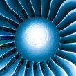 Modern plane engine turbine blades. — Stock Photo #19001019