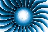Aubes de turbine de moteur avion moderne. — Photo