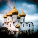 Beautiful Christian church in Yaroslavl. — Stock Photo #21590593