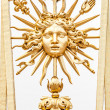 Element of golden gate of Chateau de Versailles. - Stock Photo