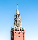 Spasskaya tower of Moscow Kremlin in Russia. — Stock Photo