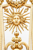 Element of golden gate of Chateau de Versailles. — Stock Photo