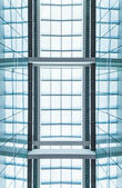Modern blue glass roof. Abstract background. — Stock Photo