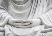 Buddha statue with hands as main subject. — Stock Photo