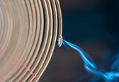 Burning spiral incense stick in temple. — Stock Photo