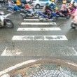 Riding scooters. Traffic in Vietnam. — Stockfoto