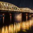 Stock Photo: Night view of Truong Tien Bridge in Hue.