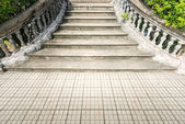 Old grungy stone stairway outdoor in summer. — Stock Photo