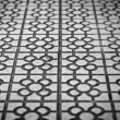 Stock Photo: Abstract tile background in black and white.