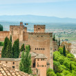 Scene of old fortress in Alhambra, Spain. — Stock Photo