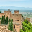 Stock Photo: Scene of old fortress in Alhambra, Spain.