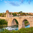 Stock Photo: Panoramof famous Toledo bridge in Spain, Europe.