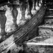 Massive old staircase with beautiful details. — Stock Photo