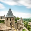 Scenic view of Carcassonne castle in France. — Stock Photo #25747889
