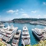Panorama of Monaco sea port. — Stock Photo