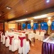 Beautiful interior design in dining room of ship. — ストック写真