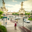 Stock Photo: Street in motion, SSebastian, Spain.