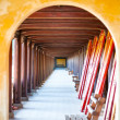 Stock Photo: Arched hall of Hue citadel, Vietnam, Asia.