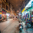 Stock Photo: Street life of Hanoi at night in Vietnam, Asia.
