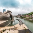 View of Guggenheim Museum in Bilbao, Spain, Europe. — Stock Photo