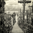 Sky and hill of crosses near Siauliai, Lithuania. — Stock Photo #25748145