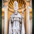 Catholic priest statue of Nice Cathedral. — Foto de Stock