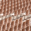 Rows of plastic chairs. — Stock Photo