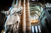 Interior of old catholic church, France. — Stock Photo