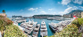 Panorama of Monaco sea port. — Stock Photo