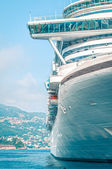 Front detail of large luxury cruise ship. — Stock Photo