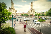 Street in motion, San Sebastian, Spain. — Stock Photo