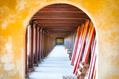 Arched hall of Hue citadel, Vietnam, Asia. — Stock Photo