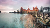 Scenic view of castle in Trakai, Lithuania. — Stock Photo